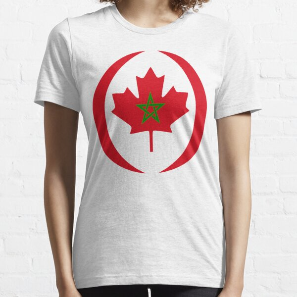 Moroccan Canadian Multinational Patriot Flag Series Essential T-Shirt