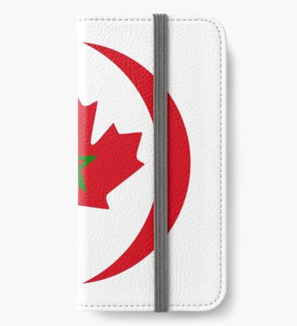 Moroccan Canadian Multinational Patriot Flag Series iPhone Wallet