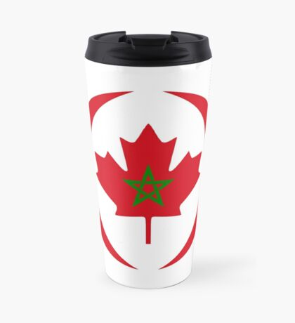 Moroccan Canadian Multinational Patriot Flag Series Travel Mug