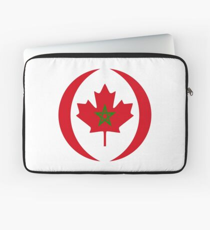 Moroccan Canadian Multinational Patriot Flag Series Laptop Sleeve