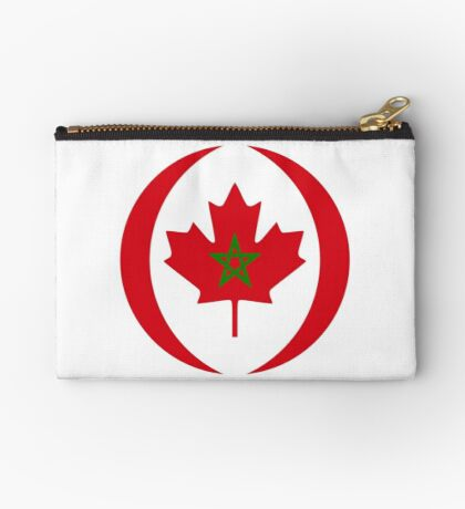 Moroccan Canadian Multinational Patriot Flag Series Zipper Pouch