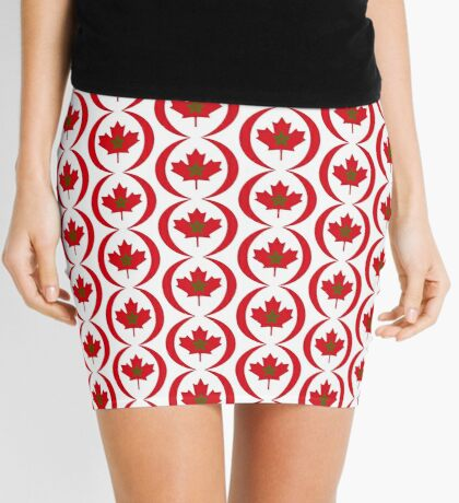 Moroccan Canadian Multinational Patriot Flag Series Mini Skirt