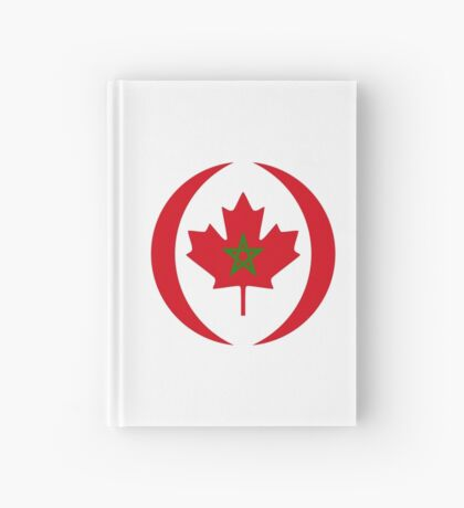 Moroccan Canadian Multinational Patriot Flag Series Hardcover Journal
