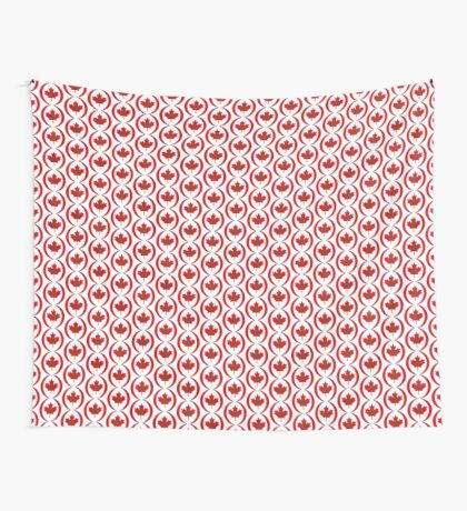 Moroccan Canadian Multinational Patriot Flag Series Wall Tapestry