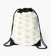banana milk carton Drawstring Bag