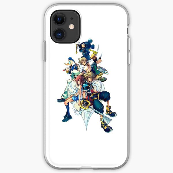 Kingdom Hearts 2 - Characters cover iPhone Soft Case