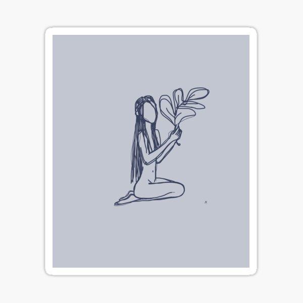 Female nature Sticker