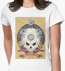 outdie skull Womens Fitted T-Shirt