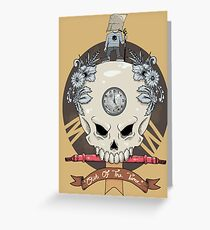 outdie skull Greeting Card