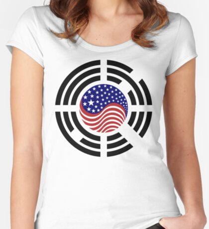 Korean American Multinational Patriot Flag Series 4.0 Fitted Scoop T-Shirt