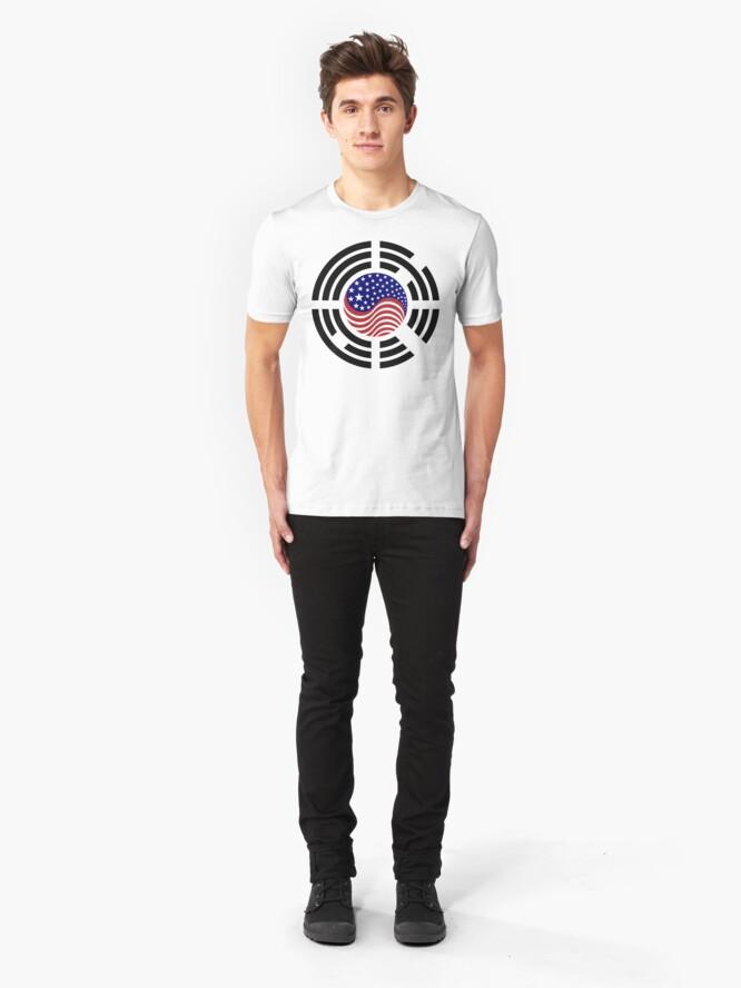 Alternate view of Korean American Multinational Patriot Flag Series 4.0 Slim Fit T-Shirt