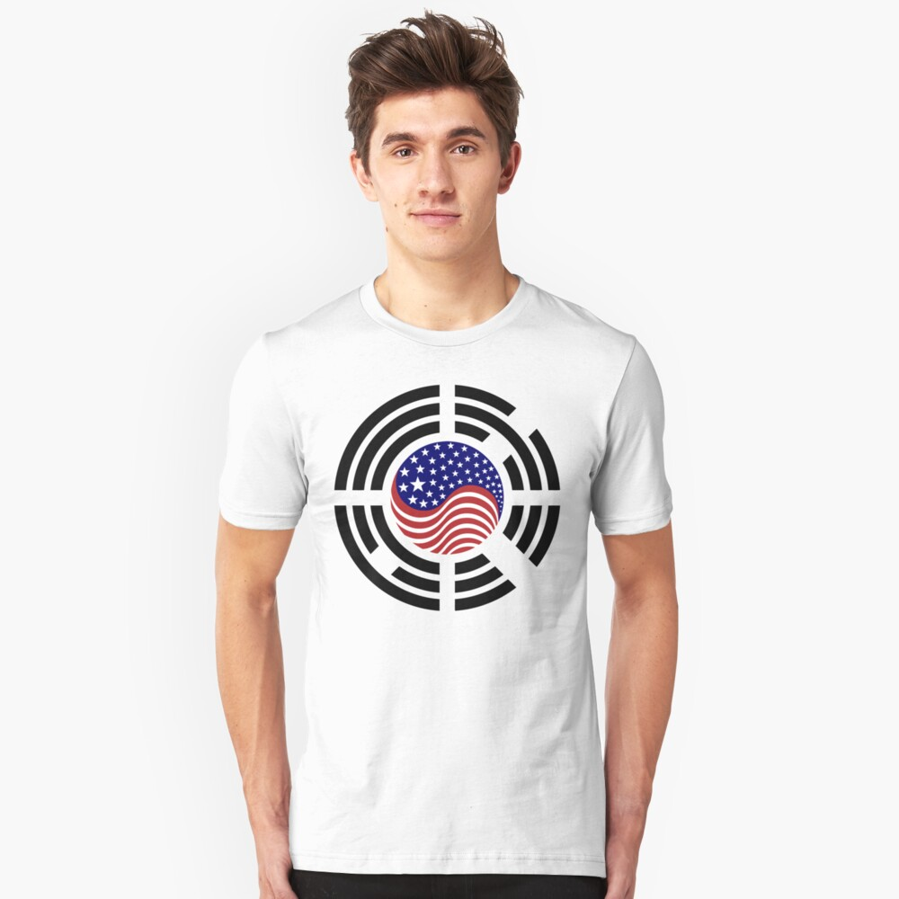 Korean American Multinational Patriot Flag Series 4.0 Slim Fit T-Shirt