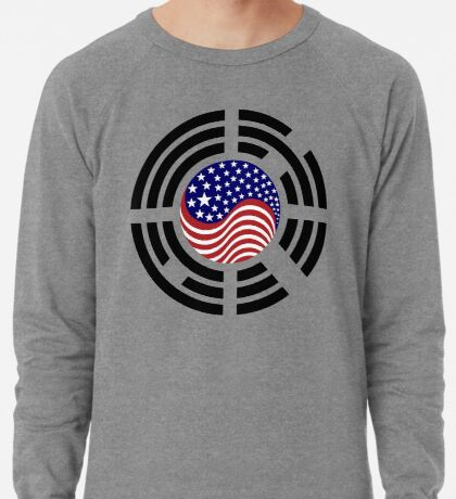 Korean American Multinational Patriot Flag Series 4.0 Lightweight Sweatshirt