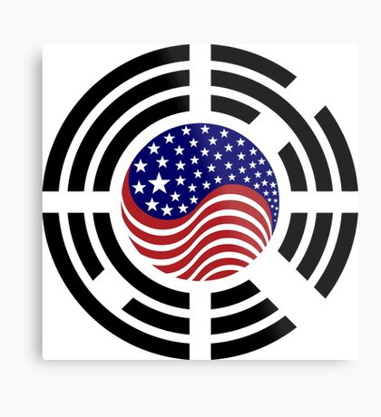 Korean American Multinational Patriot Flag Series 4.0 Metal Print