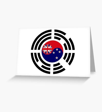 Korean Kiwi (New Zealand) Multinational Patriot Flag Series Greeting Card