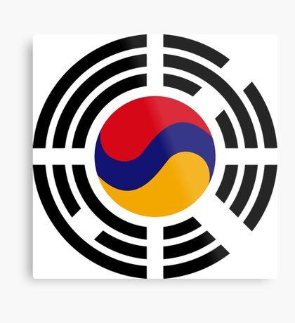 Korean Armenian Multinational Patriot Flag Series Metal Print
