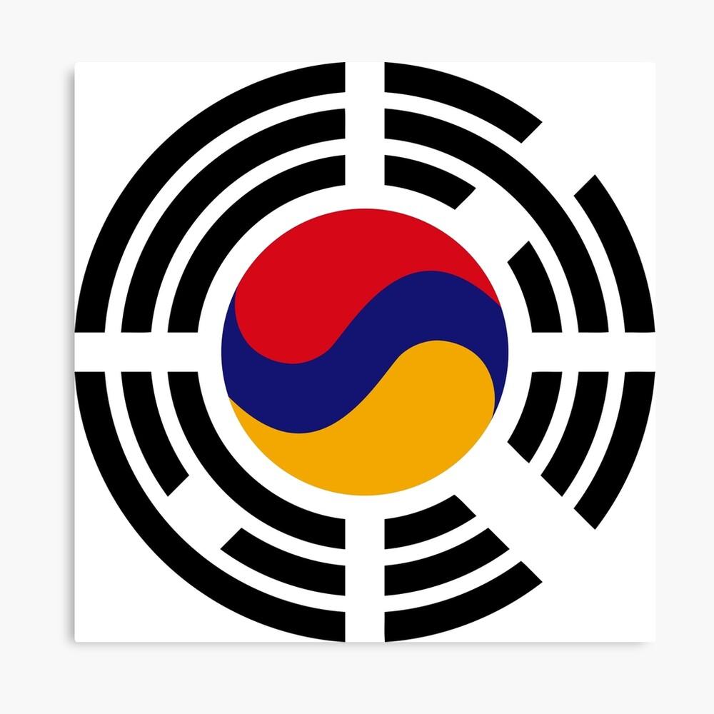 Korean Armenian Multinational Patriot Flag Series Canvas Print