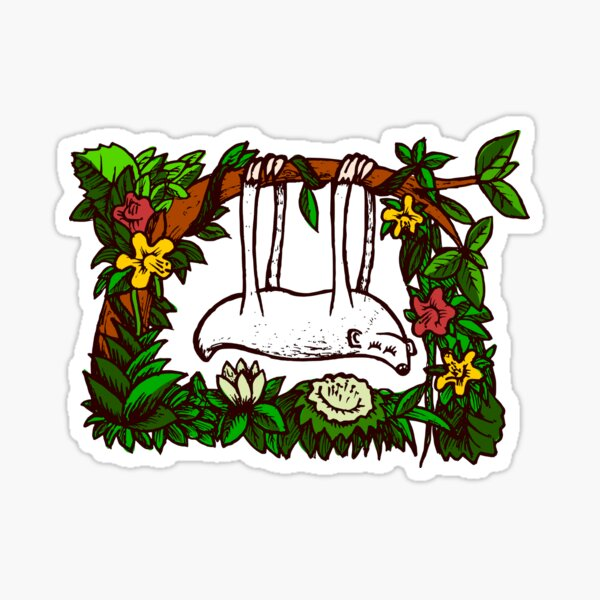 Sleepy Sloth Sticker