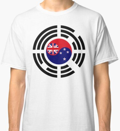 Korean Kiwi (New Zealand) Multinational Patriot Flag Series Classic T-Shirt