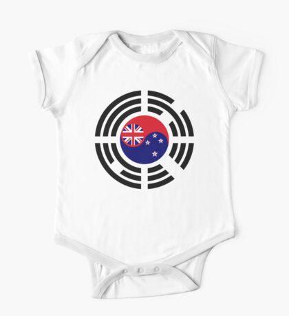 Korean Kiwi (New Zealand) Multinational Patriot Flag Series Kids Clothes
