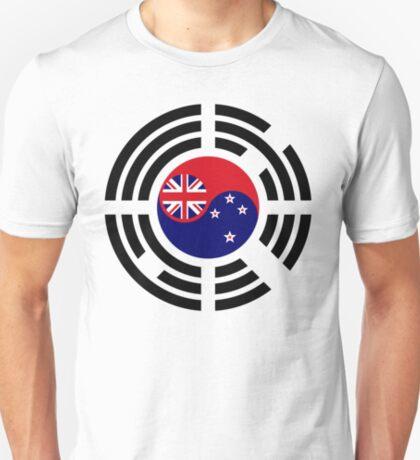 Korean Kiwi (New Zealand) Multinational Patriot Flag Series T-Shirt