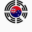 Korean Kiwi (New Zealand) Multinational Patriot Flag Series by Carbon-Fibre Media