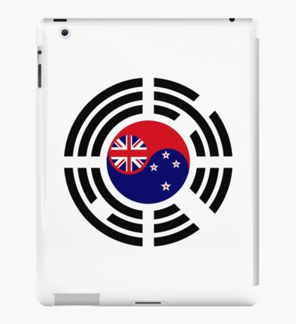 Korean Kiwi (New Zealand) Multinational Patriot Flag Series iPad Case/Skin