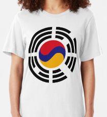 Korean Armenian Multinational Patriot Flag Series Slim Fit T-Shirt
