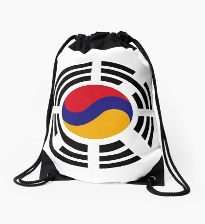 Korean Armenian Multinational Patriot Flag Series Drawstring Bag