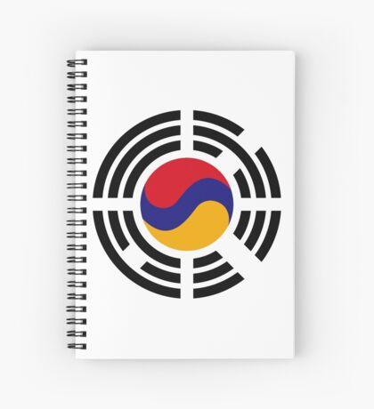 Korean Armenian Multinational Patriot Flag Series Spiral Notebook