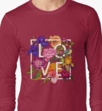 Floral and birds Graphic Design  Long Sleeve T-Shirt