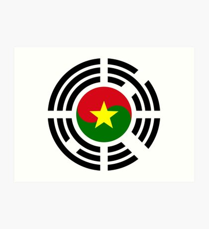 Korean Burkina Faso Multinational Patriot Flag Series Art Print