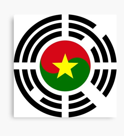 Korean Burkina Faso Multinational Patriot Flag Series Canvas Print