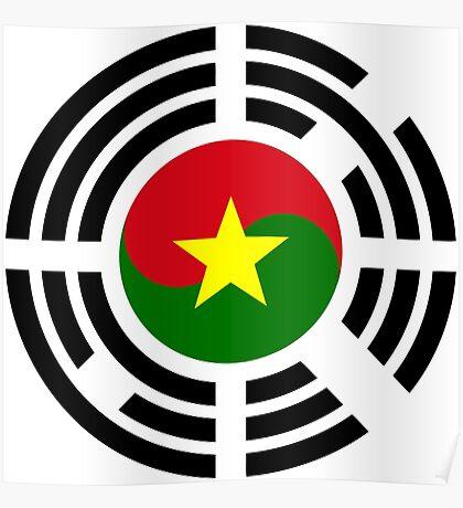 Korean Burkina Faso Multinational Patriot Flag Series Poster