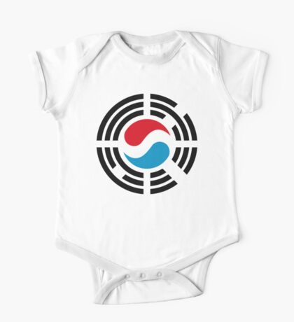 Korean Luxembourg Multinational Patriot Flag Series Kids Clothes