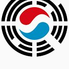 Korean Luxembourg Multinational Patriot Flag Series by Carbon-Fibre Media