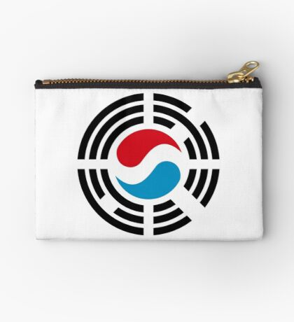 Korean Luxembourg Multinational Patriot Flag Series Zipper Pouch