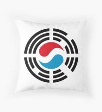 Korean Luxembourg Multinational Patriot Flag Series Throw Pillow