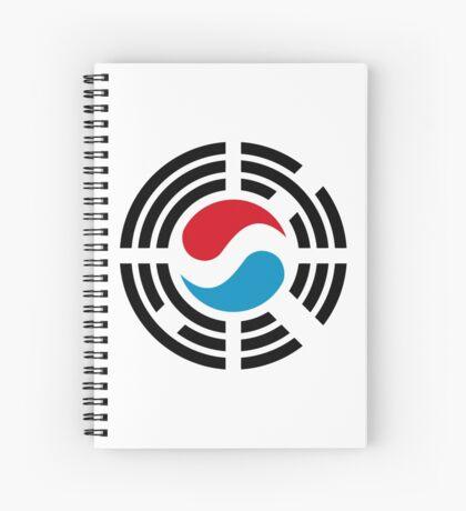 Korean Luxembourg Multinational Patriot Flag Series Spiral Notebook