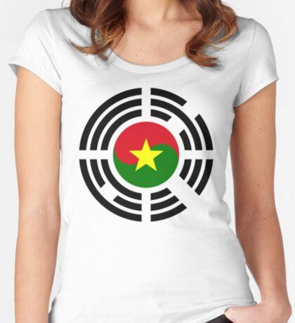 Korean Burkina Faso Multinational Patriot Flag Series Fitted Scoop T-Shirt