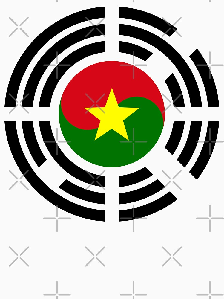 Korean Burkina Faso Multinational Patriot Flag Series by carbonfibreme