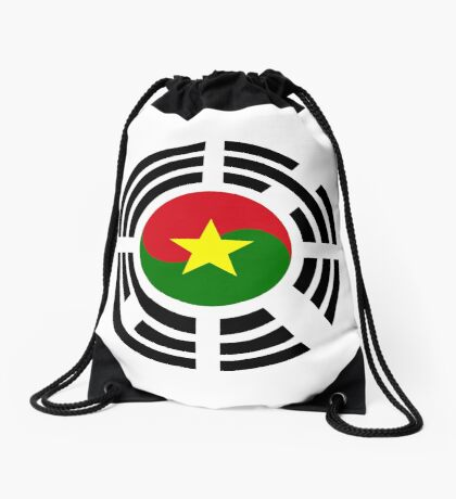 Korean Burkina Faso Multinational Patriot Flag Series Drawstring Bag
