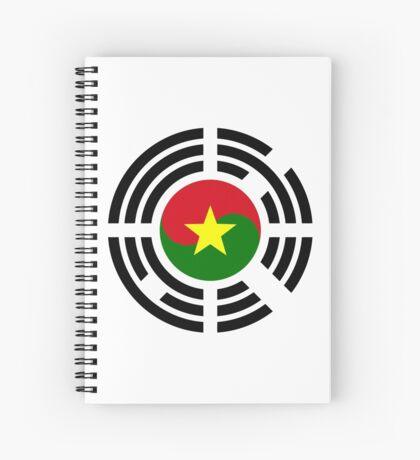 Korean Burkina Faso Multinational Patriot Flag Series Spiral Notebook