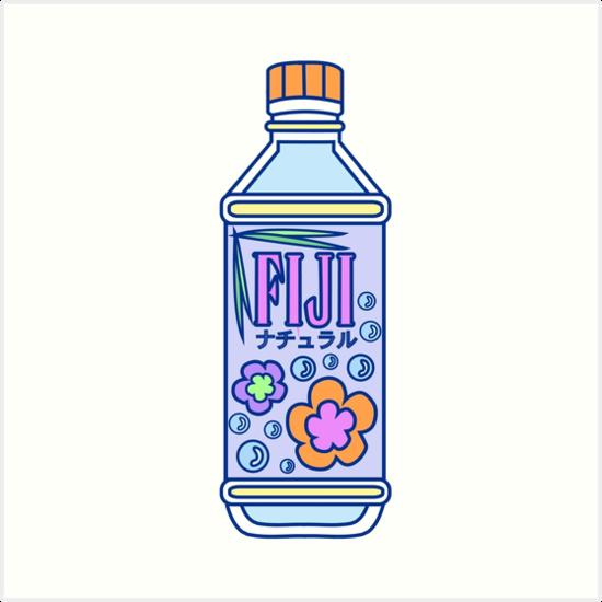 Aesthetic Fiji Water Bottle Art Print By Pennysoda