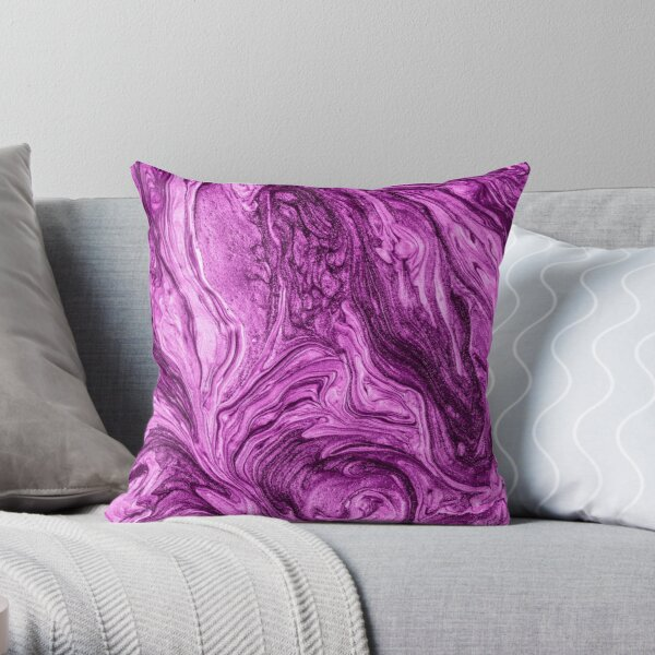 glamour 004 liquid purple colors Throw Pillow