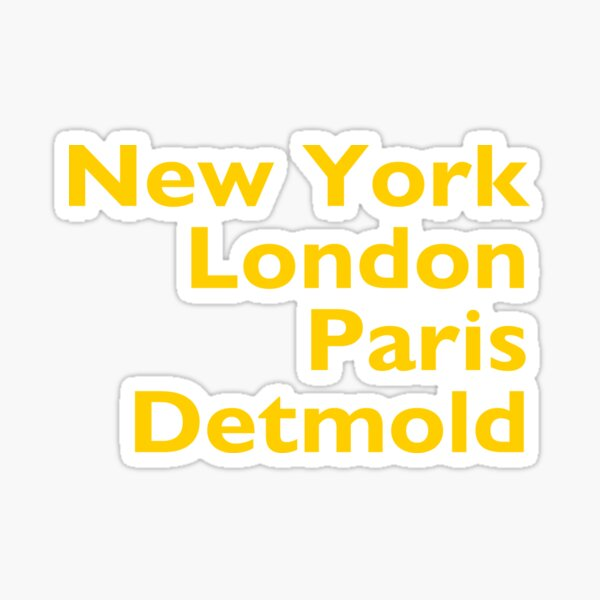 New York London Paris Detmold Sticker