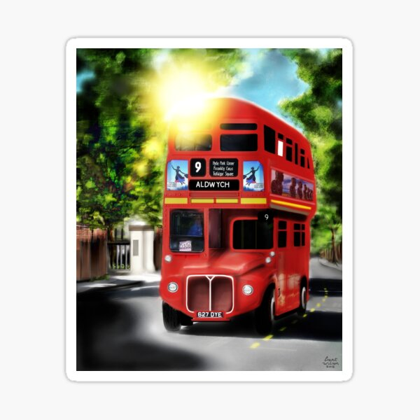 Route-Master, Red, City of London Antique Transport Sticker