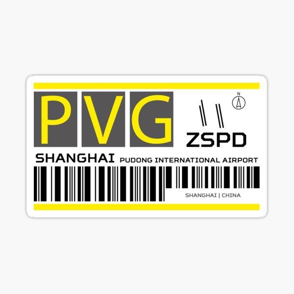 Destination Shanghai Airport Sticker
