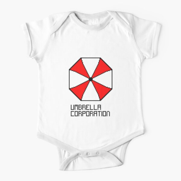 Cloud City 7 Resident Evil Umbrella Corporation Logo Baby Grow Short Sleeve