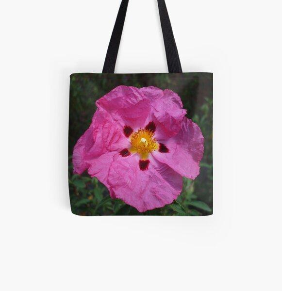 Pink Rock Rose All Over Print Tote Bag